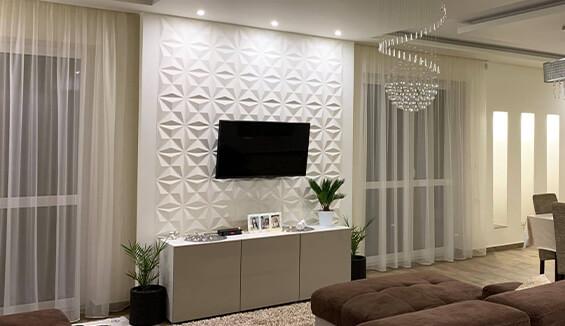 mur tv idee deco mur salon moderne