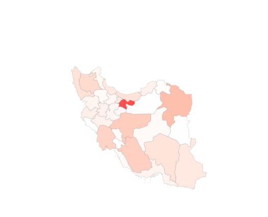 Population Map of Iran