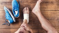 Runner with inflammation in his foot due to an ankle injury