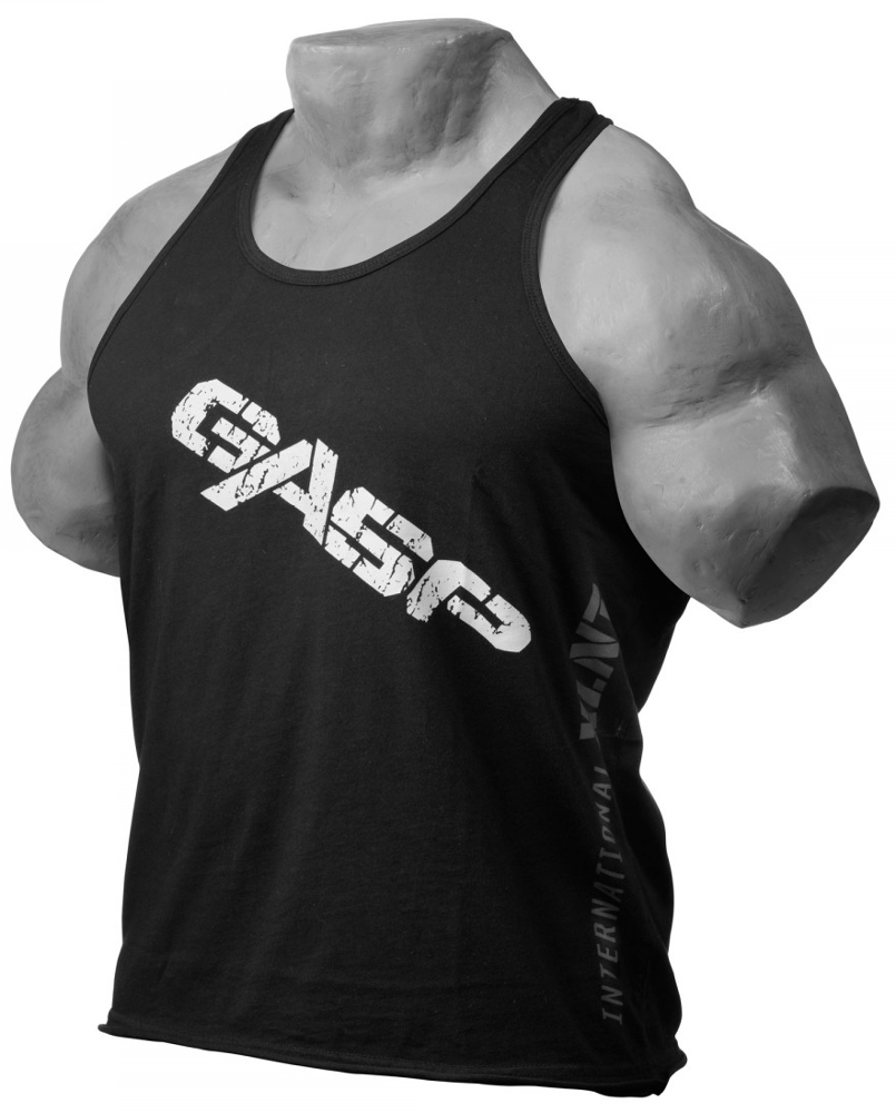 GASP Vintage T-Back Tank - Black Medium