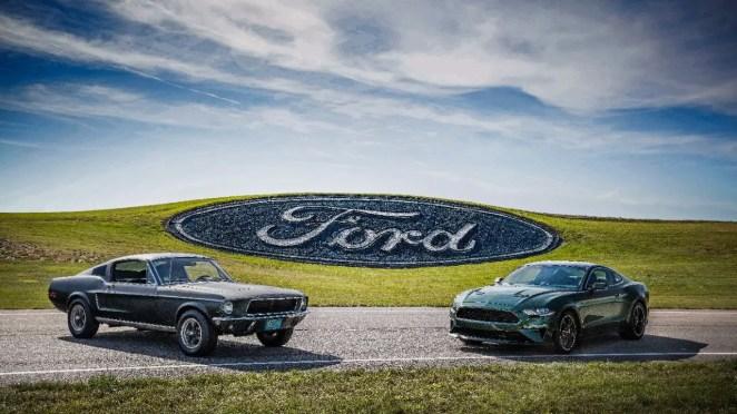 Original Mustang Bullitt and S550 Ford Mustang Bullitt