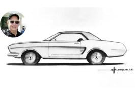 Original Ford Mustang Sketch