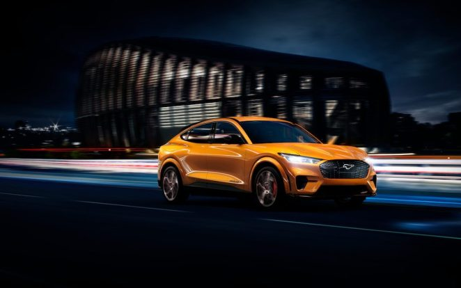 Ford Mustang Mach-E in Cyber Orange