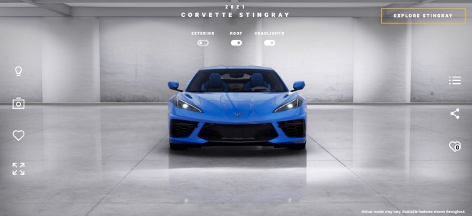2021 Corvette Stingray C8 Visualizer Configurator