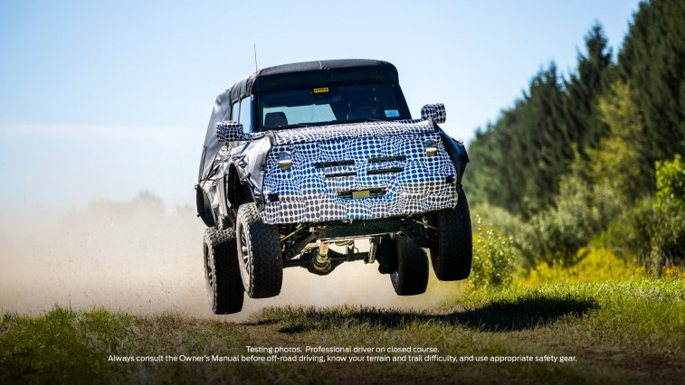 2023 2024 Ford Bronco Raptor Warthog Teaser Spy Photo Prototype