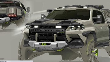 Chevrolet Silverado ZR2 Rendering Tyler Moffet GM Design