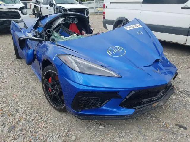 Crashed C8 Corvette Copart