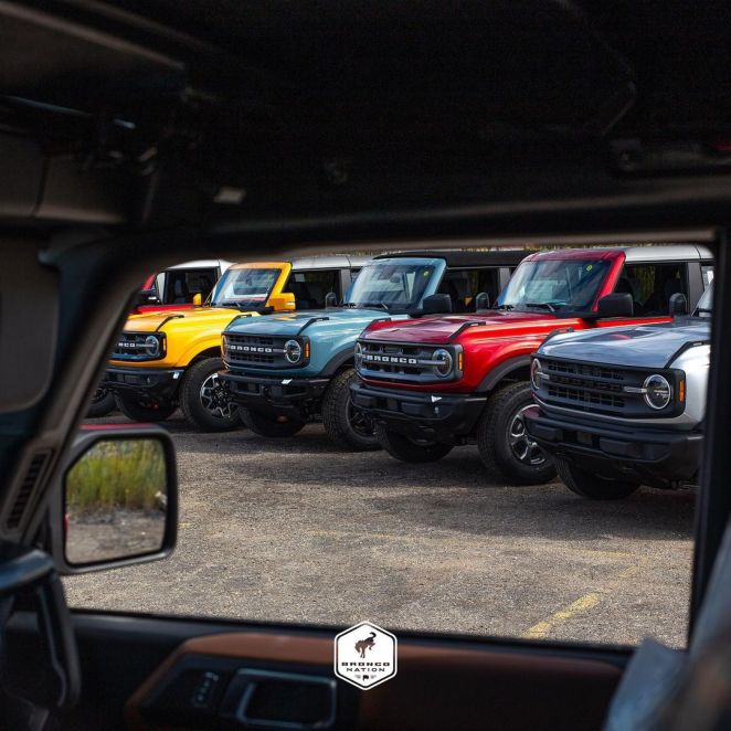 Ford Bronco Trim Levels Lineup Family Base Big Bend Outer Banks Wildtrak Sasquatch First Edition Badlands