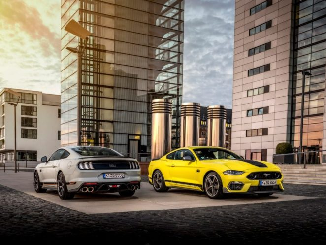 2021 Ford Mustang Mach 1 Grabber Yellow Europe Fighter Jet Gray