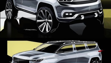 Grand Wagoneer Early Sketches.