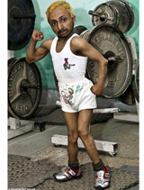 Look! The World's Smallest Bodybuilder