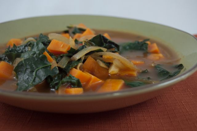 African Kale Yam Soup