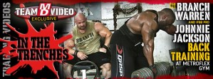 Branch Warren And IFBB Johnnie Jackson Back Training