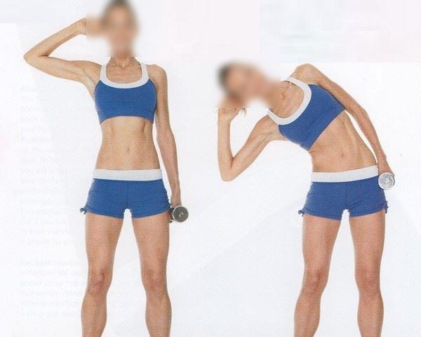 Flexion latéral avec haltère (mouvement incorrect)
