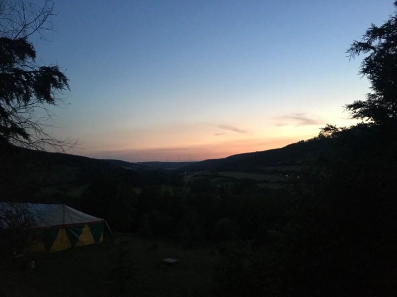 Sonnenuntergang auf dem Himmelsfels