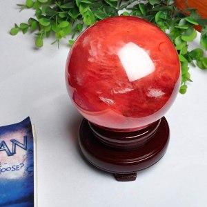 06-Bola de Cristal Rojo Meditación - 40cm
