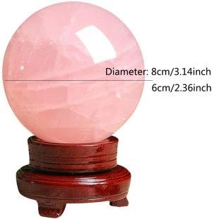04-Bola de Cristal Rosa Meditación - 8cm