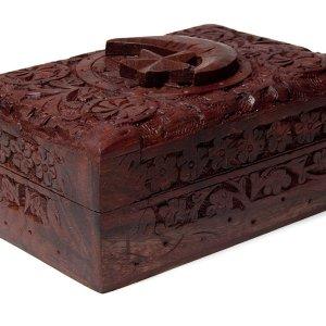 01-Caja para tarot Estrella y Luna de madera