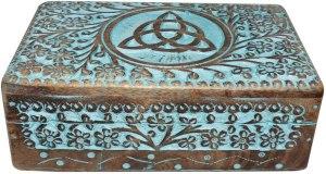 01-Caja para tarot con triqueta azul
