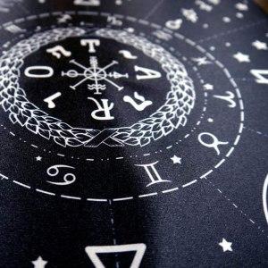 01-Mantel para tarot Diagrama - Negro