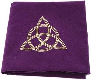 01-Mantel para tarot Wicca - Morado