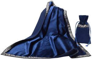 01-Mantel y bolsita para tarot - Azul