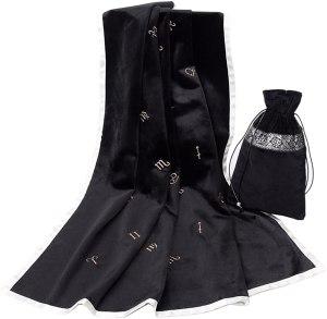 05-Mantel y bolsita para tarot - Negro