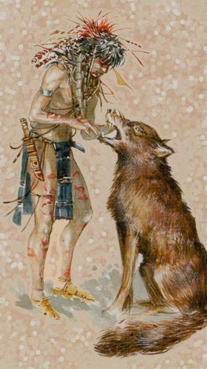 Native American Tarot  La Fuerza
