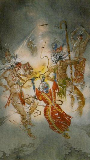 Native American Tarot  El Diablo