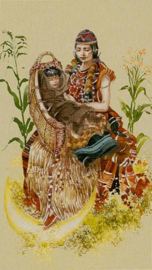 Native American Tarot  La Sacerdotisa
