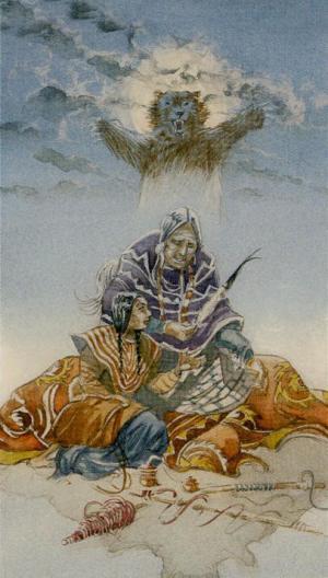 Native American Tarot  La Emperatriz