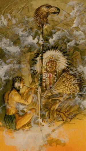 Native American Tarot  El Emperador