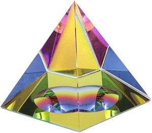 01-Pirámide Cristal iridiscente 10cm