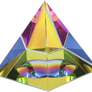 01-Pirámide Energía Cristal iridiscente 10cm