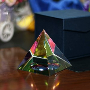 04-Pirámide Energía Cristal iridiscente 8cm
