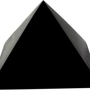 01-Pirámide Energía Shungita pulida 15cm