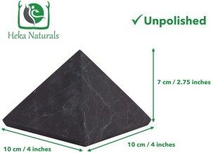 02-Pirámide Energía Shungita sin pulir 10cm