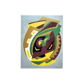 """"""" Abstracción"""" 1958 : óleo sobre papel 63 x 48 cm"""