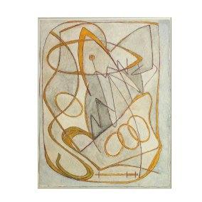 """ Abstracción"" s.f. : técnica mixta sobre papel 33 x 25.5 cm"