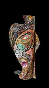 """""""Máscara"""" C.a. 1924 : acrílico sobre cartoncillo 60 x 24 x 28 cm"""