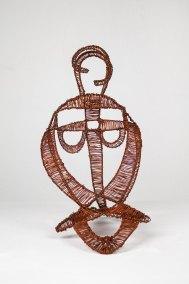 """""""Máscara"""" Ca. 1950 : alambre de cobre 31.5 x 20 x 28 cm"""