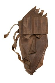 """Máscara abstracta"" s.f. : lámina de acero 28 x 15 x 7 cm"