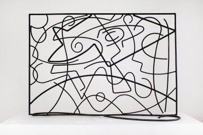 """Mampara"" 1955 : varilla de fierro 88 x 125 x 41 cm"