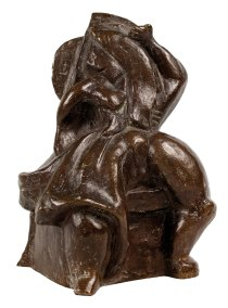 """""""Sin título"""" 1935 : bronce : 22.3 x 15 x 12.5 cm"""