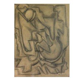 """""""Sin título"""" 1941 : lápiz sobre papel 19.5 x 22.5 cm"""