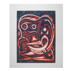 """""""Sin título"""" 1961 : guache sobre cartoncillo 48 x 58 cm"""