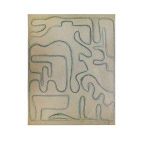 """""""Sin título"""" s.f. : lápiz de color sobre papel 28 x 22.5 cm"""