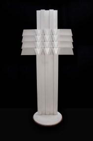 La gran cruz II| 2003 Placa de acero, laca automotiva blanca y caoba 199 x 92.