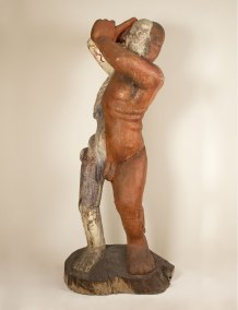 """No dos"" : 2000 - 2002 : talla en madera de ahuehuete : 230 x 110 x 90 cm"