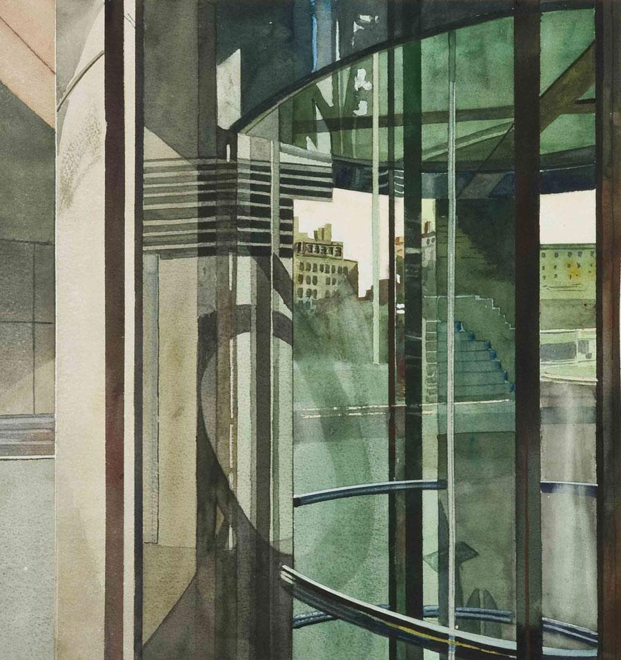 Miguel Leache Acuarelas y espejos. Exposiciones Museo Gustavo de Maeztu